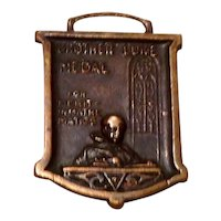 Brother Luke Bronze Colored Medal 1934
