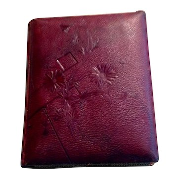 Victorian  Embossed Leather Photo Album
