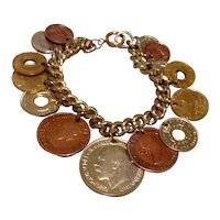 Foreign Country Coin Bracelet