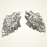 Art Deco Clear Rhinestone Dress Clips