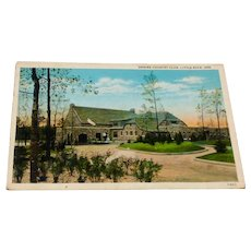 Vintage Shrine Country Club Little Rock, Ark. Postcard