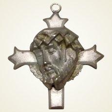 Sterling Jesus Christ Medal Crown Of Thorns