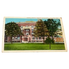 General Hospital, Eleventh And McGowan, Little Rock Ark. Postcard
