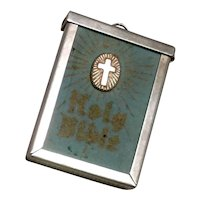 Silver Tone Metal Bible Pendant New Testament