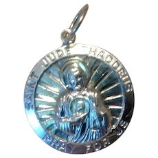 Saint Jude Pray For Us Medal Sterling Silver