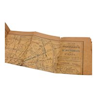 Plan Tramways D' Autobus Of Paris World War 1 Map