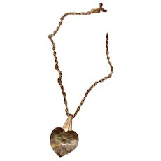 Gold Filled Chrystal Heart Pendant Necklace