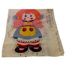 Gingham Girl Stuffed Doll Pattern