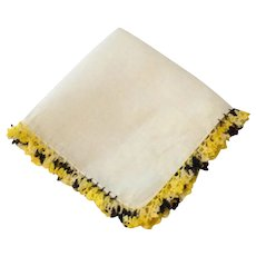 Crocheted Edge Handkerchief