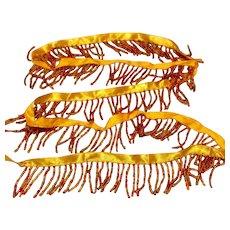 Beaded Trim Orange Gold & Yellow
