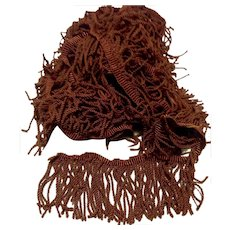 Twisted Dark Brown Fringe Trim