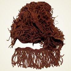 Twisted Dark Brown Fringe Trim