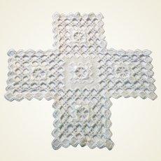 Hand Crocheted Cross Piece