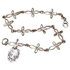 Sterling Cross Bracelet Faith Charm