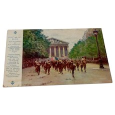 World War I Post Card Soldiers Mail France