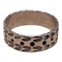 Sterling Black Enamel Band Ring