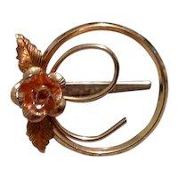 Krementz Gold Filled Floral Brooch
