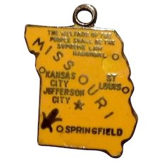 Wells Sterling Enameled Missouri Charm - Show Me State