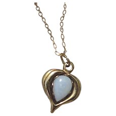 14K Gold Filled Opal Pendant Necklace