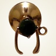 Black Onyx Gold Filled Tie Tack