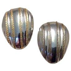 Sterling Vermeil Beaded Pierced Earrings