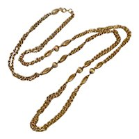 """Gold Tone Double Strand 30"""" Necklace"""