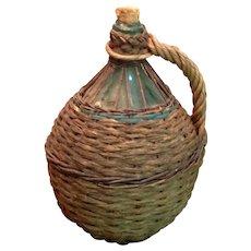 DemiJohn In Hand Woven Basket French