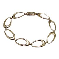 Flexible Oval Link Gold Filled Bracelet