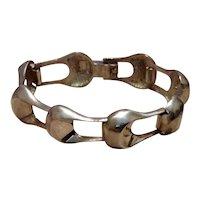 Mexican Modernist Sterling Flexible Bracelet