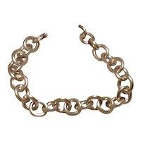 Sterling Flexible Link Bracelet Round Links