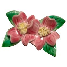English Bone China Dogwood Brooch