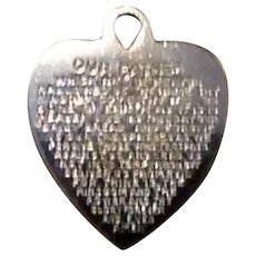 Sterling Our Father Heart Charm