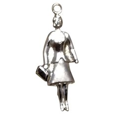 Sterling Silver Lady Charm