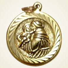 Gold Tone St. Anthony Medal