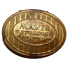 Mavis Vivaudou Metal Box Gold Tone