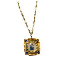 Madonna & Child Pendant Necklace