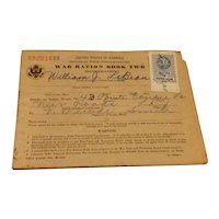World War II Ration Stamp Book #2