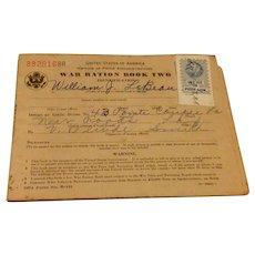 World War II Ration Stamp Book #2