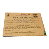 World War II Ration Stamp Book #4