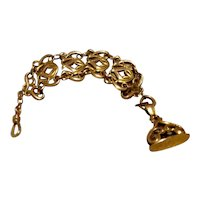 Victorian 12K Gold Filled Watch Fob Chain