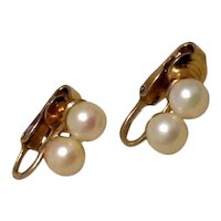 Winard 12K Gold Filled Simulated Pearl Earrings