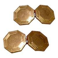 Krementz Gold Plate Cuff Links