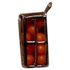 Sterling Silver Crate Of Oranges