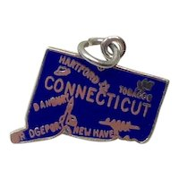 Sterling Enameled Connecticut Travel Charm