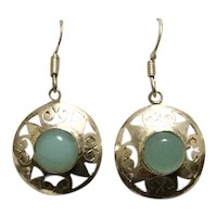 Sterling Silver Blue Chalcedony Dangle Earrings