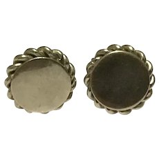Delma Silver Tone Screw Back Earrings