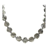 Clear Faceted Crystal Bead Choker Necklace