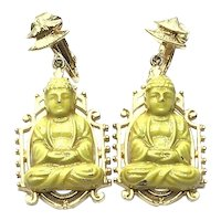 Oriental Budha Dangle Earrings