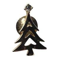 Avon Rhinestone Christmas Tree Lapel Pin