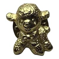 Gold Tone Lamb Lapel Pin